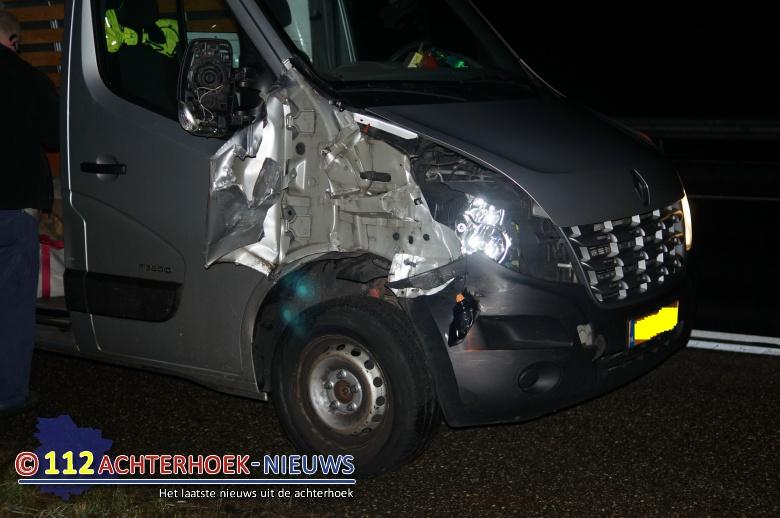Flinke schade na ongeval op afslag van A18 bij Wehl.