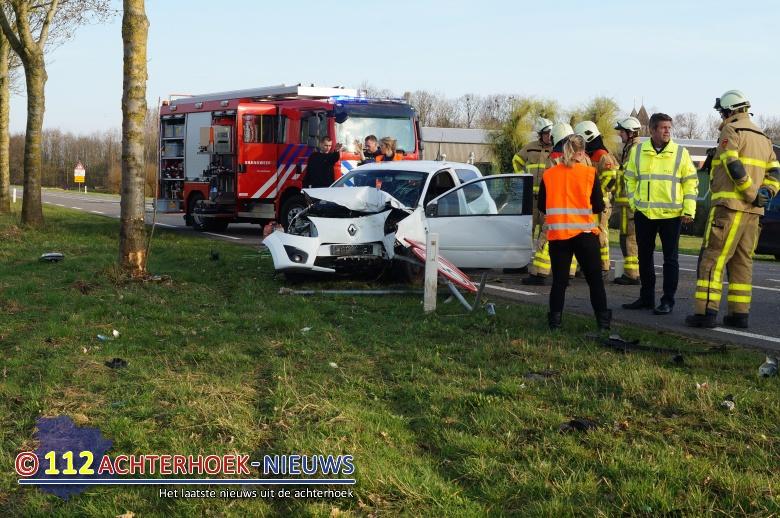 Eenzijdig ongeval op Slingerparallel bij Ulft.