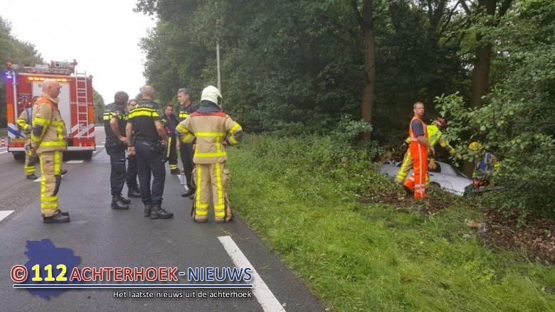 Gewonde bij eenzijdig ongeval nabij Groenlo.