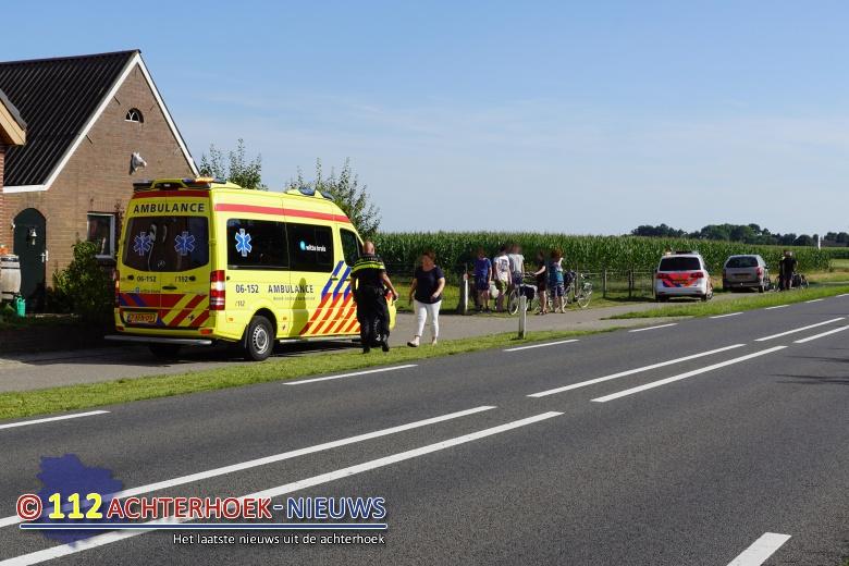 Fietser lichtgewond na ongeval Wijnbergen.