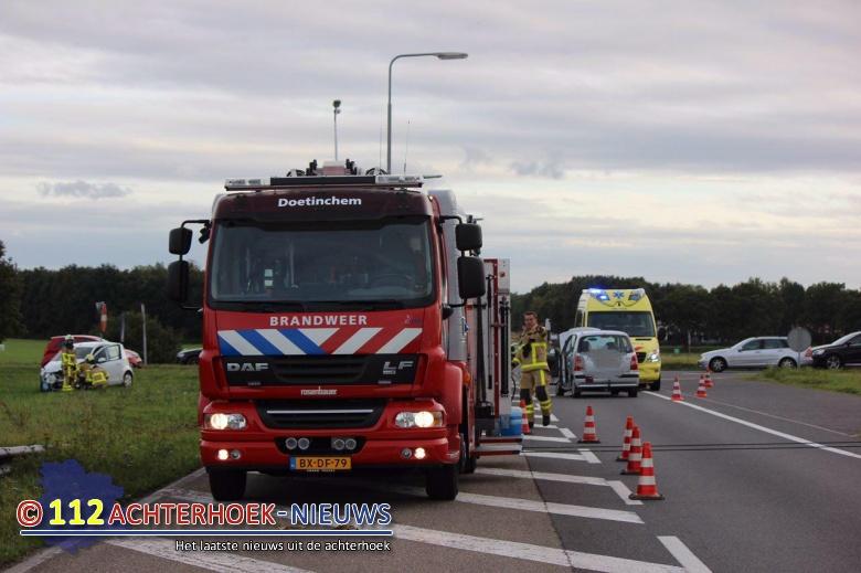 Twee gewonden na aanrijding Europaweg / Wijnbergseweg in Doetinchem.