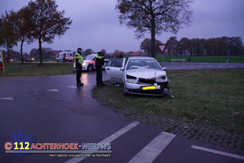 Veel schade bij kop-staartbotsing Winterswijk.