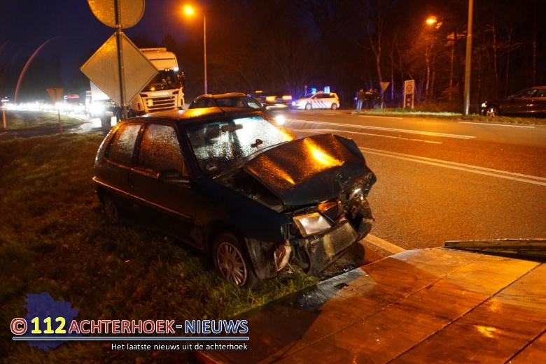 Geen gewonden bij kop-staart aanrijding Europaweg N18 Lievelde.