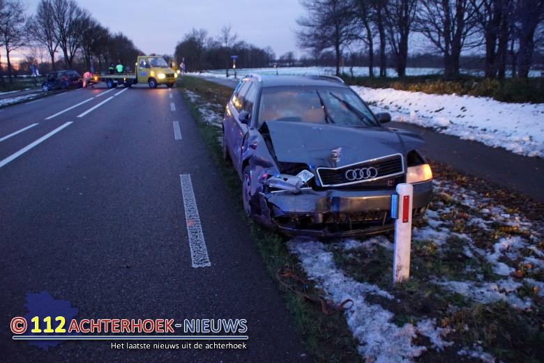 Twee gewonden bij aanrijding Hamelandroute in Aalten.