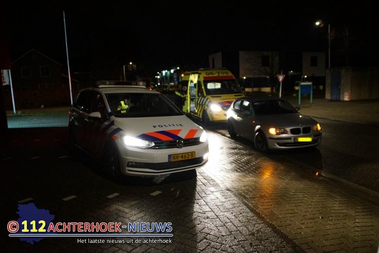 Een gewonden bij aanrijding tussen auto en scooter in Lichtenvoorde.