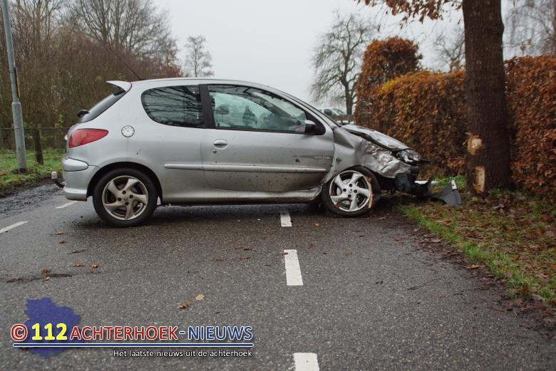 Automobiliste gewond na botsing met boom in Toldijk.
