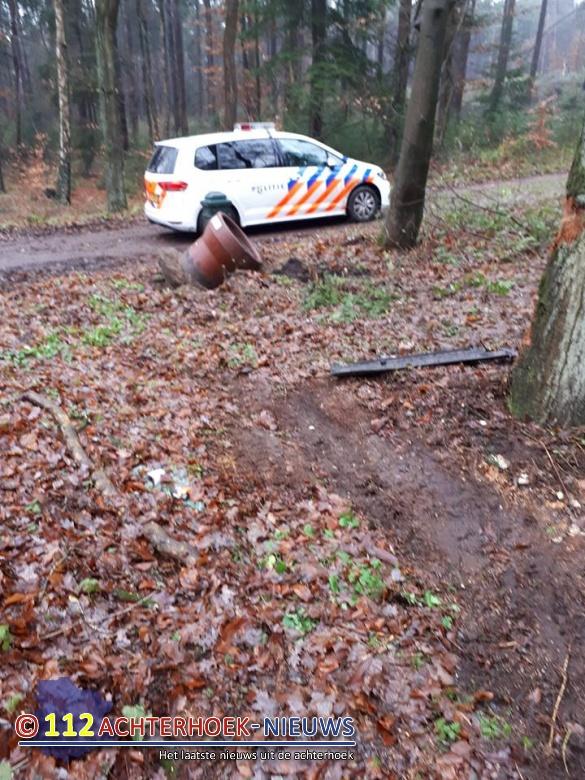 Verlaten plaats ongeval Peeskesweg in Beek.