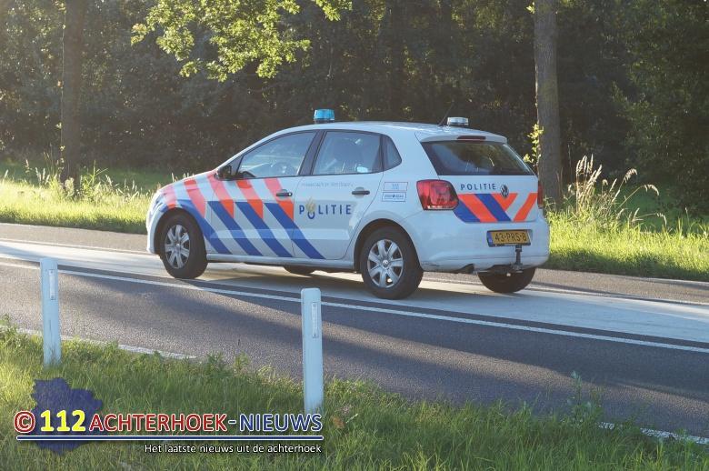 Verlaten plaats na ongeval in Eibergen.