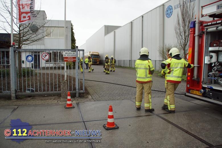 Stankoverlast door ongelukje met vat azijnzuur bij Dusseldorp BV in Lichtenvoorde.