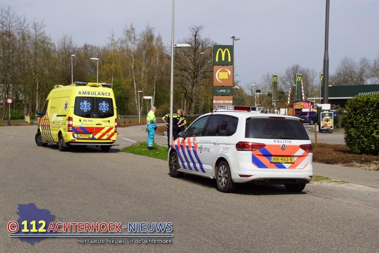 Fietsster aangereden bij McDonald's in Winterswijk.
