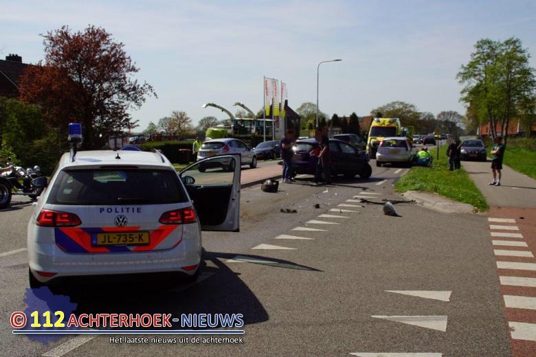 Vooral blikschade bij botsing op de Varsseveldsestraatweg N318 bij Aalten.