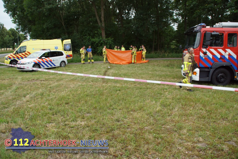 Vrouw overleden na eenzijdig ongeval in Aalten.