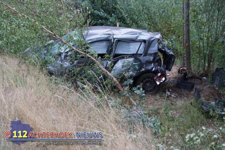 Man ernstig gewond bij eenzijdig ongeval op de N319 bij Groenlo.