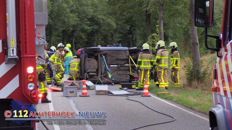 Auto belandt op zijn zij na eenzijdig ongeval Varsseveld.