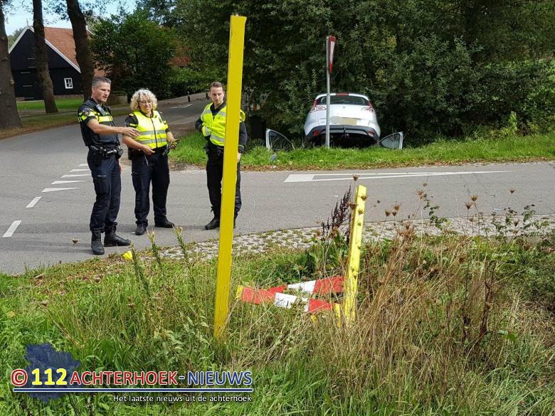 Passagier gewond bij eenzijdig ongeval Winterswijk.